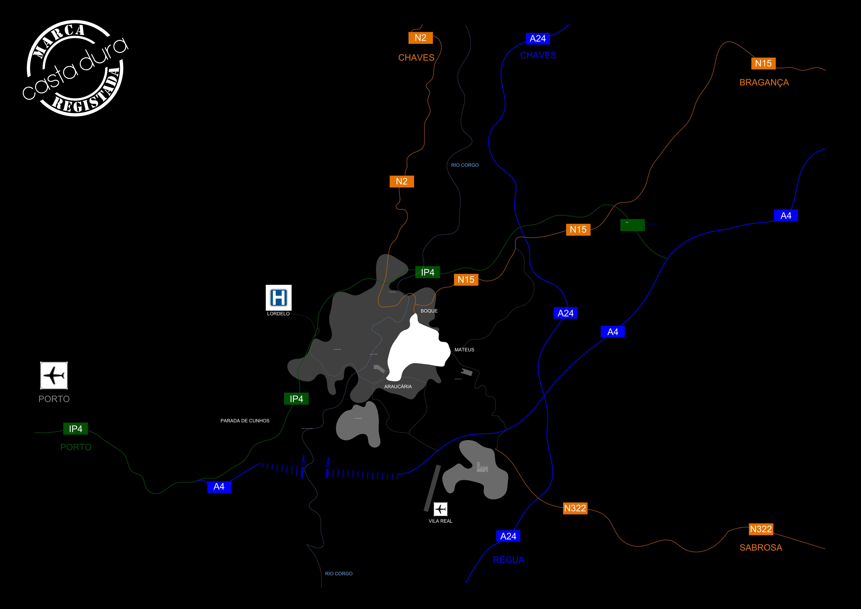 Mapa de acessos