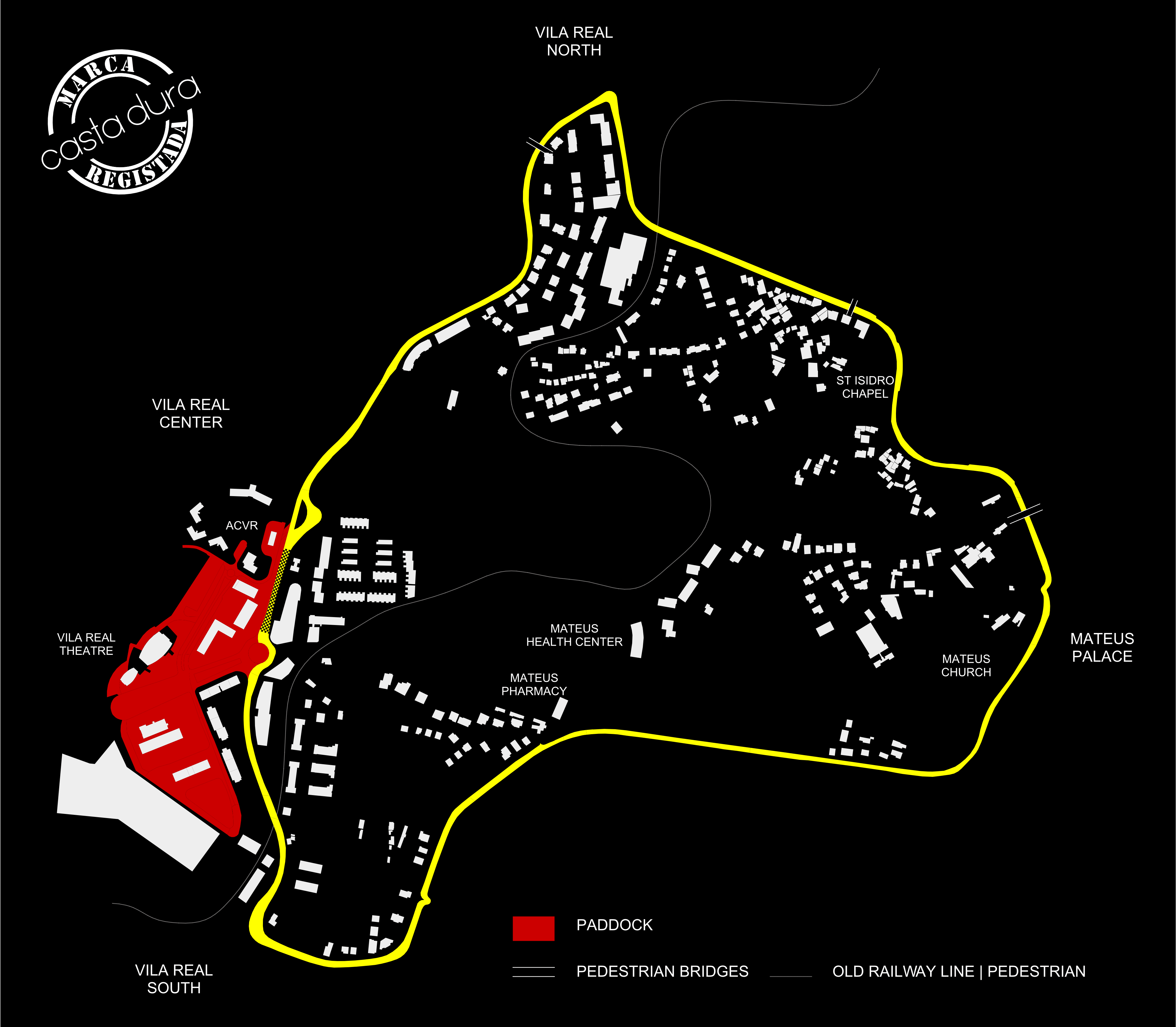 Mapa do Circuito Internacional de Vila Real